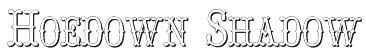 Hoedown Shadow Font