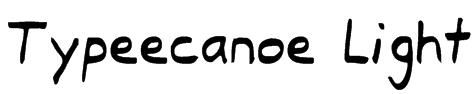 Typeecanoe Light Font