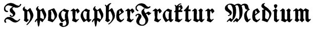 TypographerFraktur Medium Font
