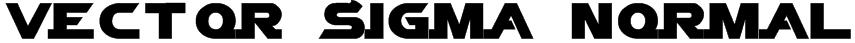Vector Sigma Normal Font