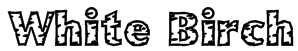 White Birch Font