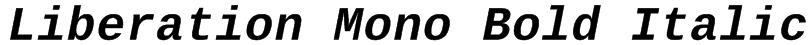 Liberation Mono Bold Italic Font