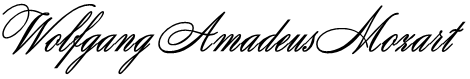 Wolfgang Amadeus Mozart Font