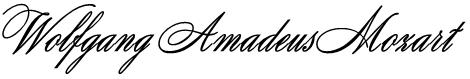 Wolfgang Amadeus Mozart Font