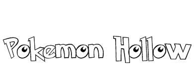 Pokemon  Hollow Font