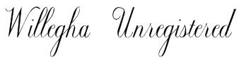 Willegha (Unregistered) Font