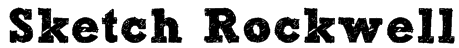 Sketch Rockwell Font