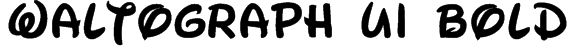 Waltograph UI Bold Font