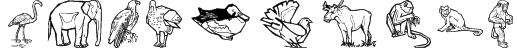 Zoobats Font