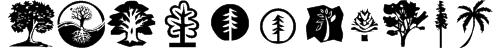 KR Trees Font