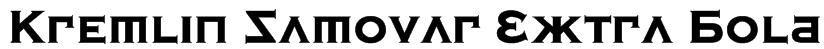 Kremlin Samovar Extra Bold Font
