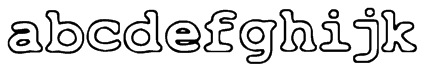 Just Another Courier Font