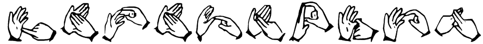 The Hands of Deaf Font