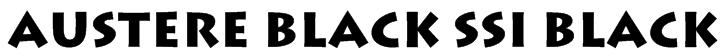 Austere Black SSi Black Font