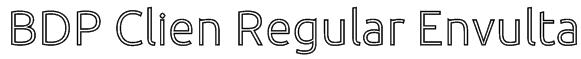 BDP Clien Regular Envulta Font