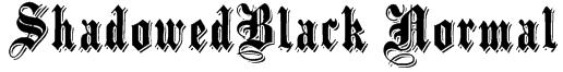 ShadowedBlack Normal Font