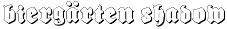 Biergärten Shadow Font
