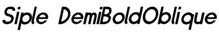 Siple DemiBoldOblique Font