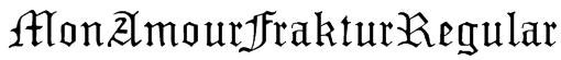 MonAmourFrakturRegular Font