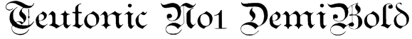 Teutonic No1 DemiBold Font