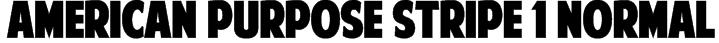 American Purpose STRIPE 1 Normal Font