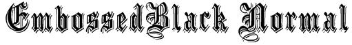 EmbossedBlack Normal Font