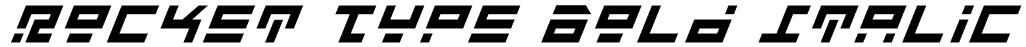 Rocket Type Bold Italic Font
