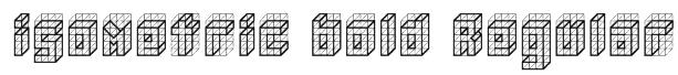 isometric bold Regular Font