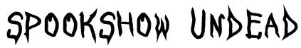 SpookShow Undead Font