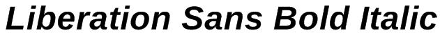 Liberation Sans Bold Italic Font