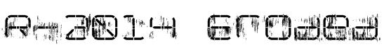 R-2014 Eroded Font