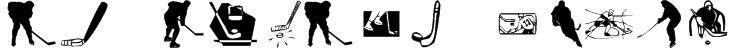 KR Hockey Dings Font