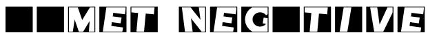 Comet Negative Font