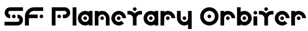 SF Planetary Orbiter Font