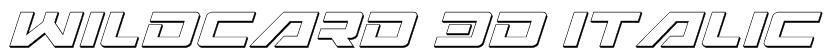 Wildcard 3D Italic Font