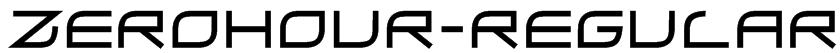 ZeroHour-Regular Font
