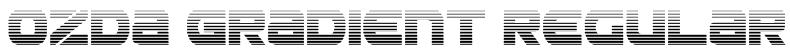 Ozda Gradient Regular Font