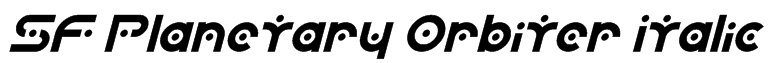 SF Planetary Orbiter Italic Font