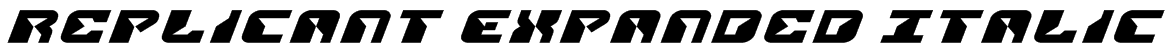 Replicant Expanded Italic Font