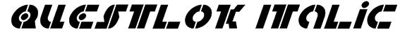 Questlok Italic Font