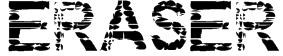 Eraser Font