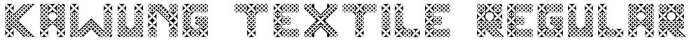 Kawung Textile Regular Font
