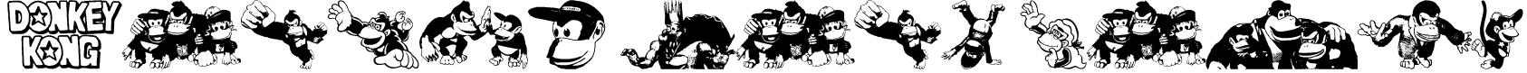 Donkey Kong World Font