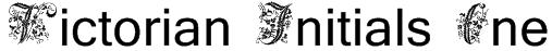 Victorian Initials One Font