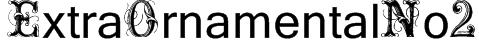 ExtraOrnamentalNo2 Font