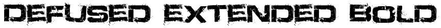 Defused Extended Bold Font