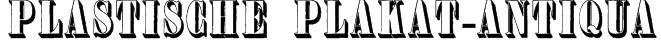 Plastische Plakat-Antiqua Font