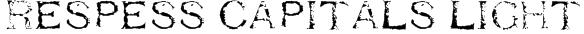 Respess Capitals Light Font
