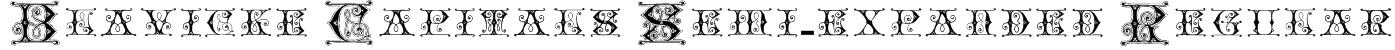 Blavicke Capitals Semi-expanded Regular Font