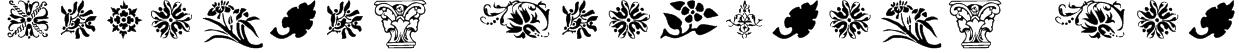 Printers Ornaments One Font